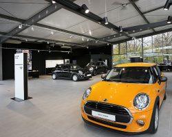 Unsere Fliesen in Autohäusern von MINI