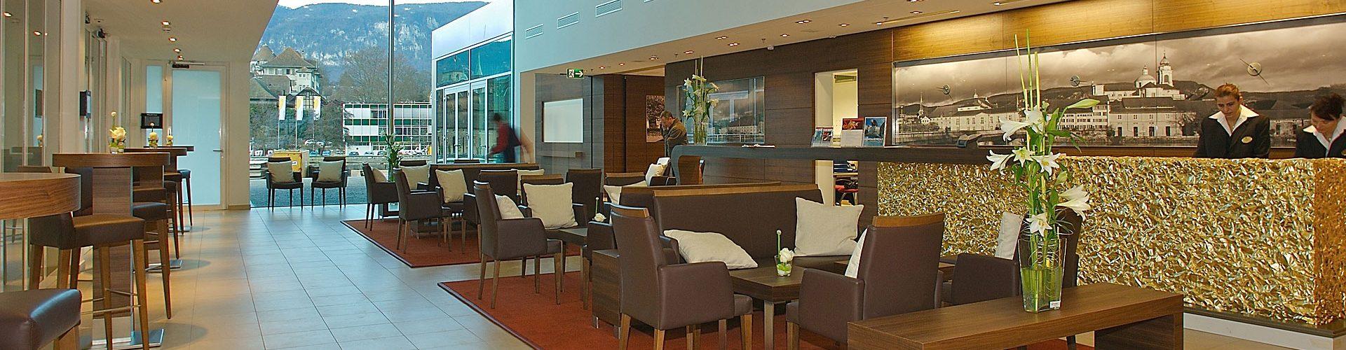 Lobby im Hotel Solothurn, Schweiz